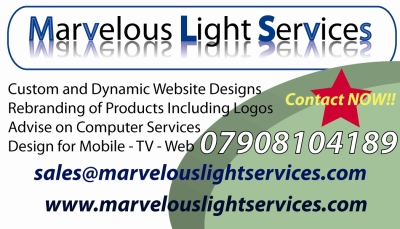 Marvelous Light Services Business Card